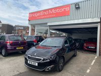 USED 2016 16 PEUGEOT 308 1.6 BLUE HDI S/S ALLURE 5d 120 BHP TOP SPECIFICATION!!.WITH 13777 MILES!..ALLURE MODEL AND LOW CO2 EMISSIONS, VERY CHEAP TO RUN! ZERO ROAD TAX AND EXCELLENT FUEL ECONOMY! SPECIFICATION INCLUDES AIR CONDITIONING, ALLOY WHEELS, AUTO LIGHTS AND WIPERS, FRONT AND REAR PARKING SENSORS, SAT NAV, AND USB INPUT!..MEETS LARGE CITY EMISSION STANDARDS.