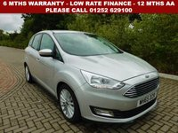 USED 2016 65 FORD C-MAX 2.0 TITANIUM TDCI 5d AUTO 148 BHP All retail cars sold are fully prepared and include - Oil & filter service, 6 months warranty, minimum 6 months Mot, 12 months AA breakdown cover, HPI vehicle check assuring you that your new vehicle will have no registered accident claims reported, or any outstanding finance, Government VOSA Mot mileage check. Because we are an AA approved dealer, all our vehicles come with free AA breakdown cover and a free AA history check.. Low rate finance available. Up to 3 years warranty available.