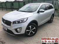 USED 2015 15 KIA SORENTO 2.2 CRDI KX-3 ISG 5d AUTO 197 BHP NEW SHAPE PAN ROOF SAT NAV LEATHER  NEW SHAPE. 4WD. 7 SEATER. PANORAMIC SUNROOF. SATELLITE NAVIGATION. STUNNING SILVER MET WITH FULL BLACK LEATHER TRIM. ELECTRIC HEATED LEATHER SEATS. CRUISE CONTROL. HEATED STEERING WHEEL. 18 INCH ALLOYS. COLOUR CODED TRIMS. PRIVACY GLASS. PARKING SENSORS. REVERSE CAMERA. BLUETOOTH PREP. ELECTRIC TAILGATE. CLIMATE CONTROL INCLUDING AIR CON. TRIP COMPUTER. R/CD PLAYER. AUTO GEARBOX. MFSW. MOT 05/20. SUV & 4X4 CAR CENTRE LS23 7FR. TEL 01937 849492 OPTION 2
