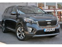 2015 KIA SORENTO 2.2 CRDI KX-4 ISG NEW SHAPE 5 DOOR AUTO 197 BHP IN GRAPHITE ONE OWNER FULL SERVICE HISTORY SAT NAV BLUETOOTH £17999.00