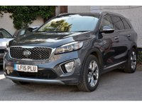 USED 2015 15 KIA SORENTO 2.2 CRDI KX-4 ISG NEW SHAPE 5 DOOR AUTO 197 BHP IN GRAPHITE ONE OWNER FULL SERVICE HISTORY SAT NAV BLUETOOTH APPROVED CARS AND FINANCE ARE PLEASED TO OFFER THIS KIA SORENTO 2.2 CRDI KX-4 ISG 5 DOOR AUTO 197 BHP IN GRAPHITE. HUGE SPEC INCLUDING ABS,ALLOY WHEELS,SAT NAV,BLUETOOTH,HEATED SEATS,7 SEATS,FULL LEATHER,PANORAMIC SUNROOF,CRUISE CONTROL,DAB RADIO,ELECTRIC TAILGATE,ONE OWNER WITH FULL SERVICE HISTORY AT 8K,24K,38K,55K MILES AND MUCH MORE. AS YOU CAN SEE WE HAVE PRICED THIS CAR TO SELL QUICKLY SO CALL 01622-871-555 AND BE SURE TO BOOK YOUR TEST DRIVE TODAY.