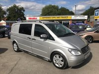2010 MERCEDES-BENZ VITO 3.0 120 CDI COMPACT 1d AUTO 202 BHP IN METTALIC SILVER, ONE OWNER, FULL SERVICE HISTORY WITH 120000 MILES  £10999.00