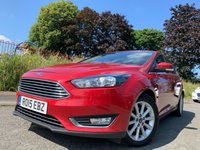 USED 2015 15 FORD FOCUS 1.5 TITANIUM TDCI 5d 118 BHP HISTORY+ELECS+PARK+0 ROAD TAX+ALLOY+CRUISE+NAV+CLIMATE+CLEAN CAR+