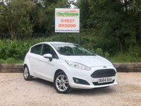 USED 2014 64 FORD FIESTA 1.25 ZETEC 5dr Low Mileage, £30 Per Year Tax
