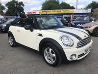 2010 MINI CONVERTIBLE 1.6 ONE 2d 98 BHP IN CREAM WITH 79000 MILES, FULL SERVICE HISTORY AND 2 OWNERS. £3999.00