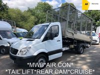 2013 MERCEDES-BENZ SPRINTER 2.1 313 CDI C/C *RARE MWB*130BHP*CAGE TIPPER*TAIL LIFT*REVERSE CAMERA* £9995.00