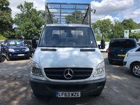 USED 2013 63 MERCEDES-BENZ SPRINTER 2.1 313 CDI C/C *RARE MWB*130BHP*CAGE TIPPER*TAIL LIFT*REVERSE CAMERA*