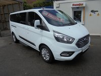 USED 2019 19 FORD TOURNEO CUSTOM NINE SEAT MINIBUS 2.0 320 ZETEC 130 BHP ONLY 2,600 MILES, AIR CONDITIONING, HEATED SEATS, CRUISE CONTROL, MAIN DEAL WARRANTY TILL 2022 FIANCE AVAILABLE  2019 FORD TOURNEO CUSTOM ZETEC NINE SEAT MINIBUS