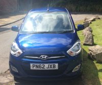 USED 2012 62 HYUNDAI I10 1.2 ACTIVE 5d 85 BHP **ZERO DEPOSIT FINANCE AVAILABLE** PART EXCHANGE WELCOME