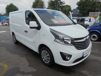 2017 VAUXHALL VIVARO 1.6 CDTI  L1H1 2700 SPORTIVE 120 BHP  SIX SPEED  SAT NAVIGATION AIR CONDITIONING, CRUISE CONTROL,ELECTRIC PACK  PARKING SENSORS 5.99% FINANCE DEALS AVAILABLE  £10500.00
