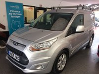 """USED 2015 65 FORD TRANSIT CONNECT 1.6 200 LIMITED P/V 1d 114 BHP This 3 seater Transit Connect 200 LTD is finished in moondust silver with Black cloth heated seats. Its already has had L4V locks and 3 rhino roof bars! It is fitted with power steering, Heated screens, Climate controlled air con which is cold! Bluetooth phone, rear park assist, cruise control, remote locking, electric windows and power folding mirrors, 16"""" alloy wheels, USB/Aux CD Stereo and more. It comes with a complete Ford service history done at 13960/26359/41313 miles."""
