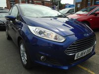 USED 2014 64 FORD FIESTA 1.2 ZETEC 3d 81 BHP, ULEZ EXEMPT ONLY 20,000 MILES!