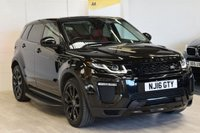 USED 2016 16 LAND ROVER RANGE ROVER EVOQUE 2.0 TD4 HSE DYNAMIC 5d AUTO 177 BHP BLACK PACK, FULL DEALER HISTORY, RED/BLACK LEATHER, 20 INCH WHEELS, SIDE STEPS, STEALTH PACK