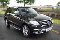 USED 2012 62 MERCEDES-BENZ M CLASS 3.0 ML350 BLUETEC SPORT 5d AUTO 258 BHP SERVICE HISTORY, SATELLITE NAVIGATION, BLUETOOTH, REAR PRIVACY GLASS, CRUISE CONTROL, POWER TAILGATE