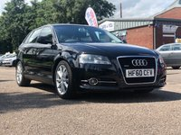 USED 2010 60 AUDI A3 2.0 SPORTBACK TDI QUATTRO SPORT S/S 5d 168 BHP 1 PREVIOUS KEEPER *  FULL YEAR MOT *  ALLOY WHEELS *  CLIMATE CONTROL *  SERVICE RECORD *
