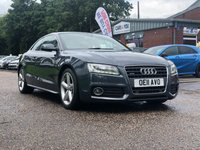 USED 2011 11 AUDI A5 2.0 TDI QUATTRO S LINE 2d 168 BHP NAVIGATION SYSTEM + REVERSING CAMERA +FULL LEATHER + DAB RADIO + BLUETOOTH +FRONT AND REAR PARKING SENSORS