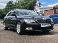 USED 2013 13 SKODA SUPERB 1.6 ELEGANCE GREENLINE II TDI CR 5d 105 BHP NAVIGATION SYSTEM +   FULL LEATHER +  PARKING AID +  1 PREVIOUS KEEPER +  BLUETOOTH +