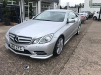 USED 2013 13 MERCEDES-BENZ E CLASS 2.1 E220 CDI BLUEEFFICIENCY SPORT 2d AUTO 170 BHP FULL SERVICE HISTORY-AUTOMATIC-HEATED LEATHER SEATS-1 FORMER KEEPER-CLIMATE CONTROL-BLUETOOTH
