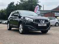 USED 2012 12 NISSAN QASHQAI+2 1.5 ACENTA PLUS 2 DCI 5d 110 BHP PANORAMIC ROOF + PRIVACY GLASS +17 INCH ALLOYS +  PARKING AID +1 PREVIOUS KEEPER +  FULL YEAR MOT +