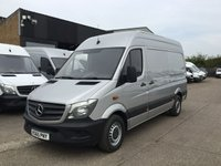 USED 2015 65 MERCEDES-BENZ SPRINTER 2.1 313CDI MWB HIGH ROOF 130BHP SILVER BLUE EFFICIENCY. PX LOW 76K F/S/H. 1 OWNER. LOW FINANCE. PX WELCOME