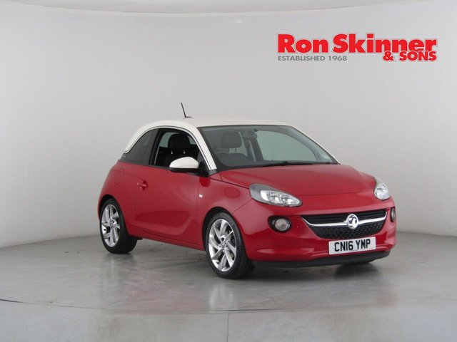 View our 2016 16 VAUXHALL ADAM 1.4 SLAM 3d 98 BHP with Cream Roof