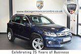 """USED 2014 64 VOLKSWAGEN TIGUAN 2.0 R LINE TDI BLUEMOTION TECH 4MOTION DSG 5DR AUTO 175 BHP full vw service history * NO ADMIN FEES * FINISHED IN STUNNING BLUE WITH CLOTH UPHOLSTERY + FULL VW SERVICE HISTORY + BLUETOOTH + DAB RADIO + SPORT SEATS + HEATED MIRRORS + USB/AUX PORT + PARKING SENSORS + 18"""" ALLOY WHEELS"""