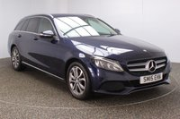 USED 2015 15 MERCEDES-BENZ C CLASS 2.1 C220 BLUETEC SPORT 5DR AUTO SAT NAV HEATED LEATHER SEATS 1 OWNER 170 BHP FULL SERVICE HISTORY + £30 12 MONTHS ROAD TAX + HEATED LEATHER SEATS + SATELLITE NAVIGATION + REVERSE CAMERA + ACTIVE PARK ASSIST + PARKING SENSOR + BLUETOOTH + CRUISE CONTROL + CLIMATE CONTROL + MULTI FUNCTION WHEEL + DAB RADIO + PRIVACY GLASS + XENON HEADLIGHTS + ELECTRIC WINDOWS + ELECTRIC MIRRORS + 17 INCH ALLOY WHEELS