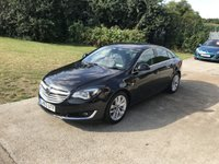 USED 2013 63 VAUXHALL INSIGNIA 2.0 ELITE NAV CDTI ECOFLEX S/S 5d 160 BHP LOVELY BLACK WITH BLACK LEATHER + ELITE MODEL !!
