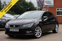 USED 2015 15 SEAT LEON 2.0 TDI FR TECHNOLOGY 3d 150 BHP SATELLITE NAVIGATION, FINANCE + NATIONWIDE DELIVERY AVAILABLE