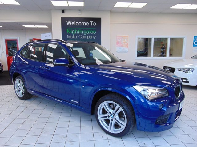 USED 2014 14 BMW X1 2.0 SDRIVE18D M SPORT 5d AUTO 141 BHP SERVICE HISTORY + FULL MOT + DAB RADIO + CLIMATE CONTROL + ALLOYS + FULL LEATHER TRIM + HEATED FRONT SEATS + ELECTRIC WINDOWS + AUTO WIPERS + AUTO LIGHTS + REMOTE CENTRAL LOCKING + DRIVERS SEAT HEIGHT ADJUSTMENT