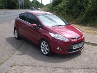 USED 2008 58 FORD FIESTA 1.4 Titanium 5 door Petrol 1 owner. FSH. Hot magenta.