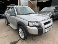 "USED 2004 04 LAND ROVER FREELANDER 2.0 TD4 S STATION WAGON 5d 110 BHP YT04TWV 2004 LAND ROVER FREELANDER 2.0 TD4 S  TURBO DIESEL STATION WAGON ESTATE SUV 5 DOOR 110 BHP TOW BAR 18"" SPORT ALLOYS"