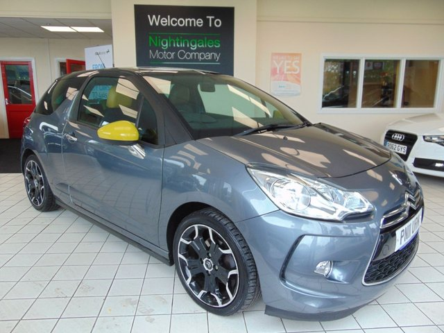 USED 2011 11 CITROEN DS3 1.6 ORLA KIELY HDI 3d 90 BHP FULL LEATHER TRIM + SPORT SEATS + AIR CONDITIONING + ALLOYS + CRUISE CONTROL + LOW CAR TAX + ELECTRIC WINDOWS + PRIVACY GLASS + GREAT MPG