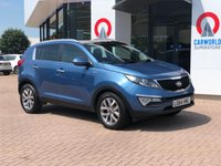 USED 2014 64 KIA SPORTAGE 2.0 CRDI KX-2 5d AUTO 134 BHP PAN ROOF | PART LEATHER |
