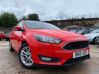 USED 2015 15 FORD FOCUS 1.0 ZETEC 5d 100 BHP 2KEYS+PRIVGLASS+MEDIA+AIRCON+HISTORY+ALLOYS+20ROADTAX+BLUETOOTH+
