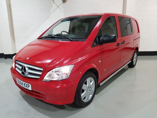 USED 2014 64 MERCEDES-BENZ VITO 3.0 122 CDI DUALINER 1d AUTO 224 BHP 1 Owner/Side Bars/Bluetooth/Cruise/Rear Privacy Glass