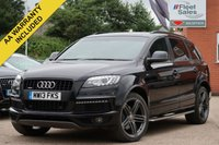 USED 2013 13 AUDI Q7 3.0 TDI QUATTRO S LINE PLUS 5d AUTO 245 BHP SATELLITE NAVIGATION, FULL LEATHER + REVERSING CAMERA