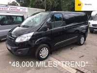 USED 2016 16 FORD TRANSIT CUSTOM 2.2 270 TREND L1 124 BHP *48,000 MILES*BLACK*