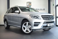 "USED 2016 65 MERCEDES-BENZ M CLASS 2.1 ML250 BLUETEC AMG LINE 5DR AUTO 201 BHP full service history * NO ADMIN FEES * FINISHED IN STUNNING IRIDIUM METALLIC SILVER WITH HALF LEATHER INTERIOR + FULL SERVICE HISTORY + SATELLITE NAVIGATION + BLUETOOTH + HEATED SEATS + AMG LINE EXTERIOR/AMG SPORTS PACKAGE EXTERIOR + CRUISE CONTROL + AMG STYLING PACKAGE-FRONT SPOILER, SIDE SKIRT + ACTIVE PARK ASSIST + 20"" AMG ALLOY WHEELS"