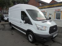 2015 FORD TRANSIT 2.2 TDCI 350 LONG WHEEL BASE HIGH ROOF P/V ELECTRIC WINDOWS, ONE OWNER FINANCE AVAILABLE PREMIER VAN SALES STOCKPORT SK3 - 0DT  £7995.00