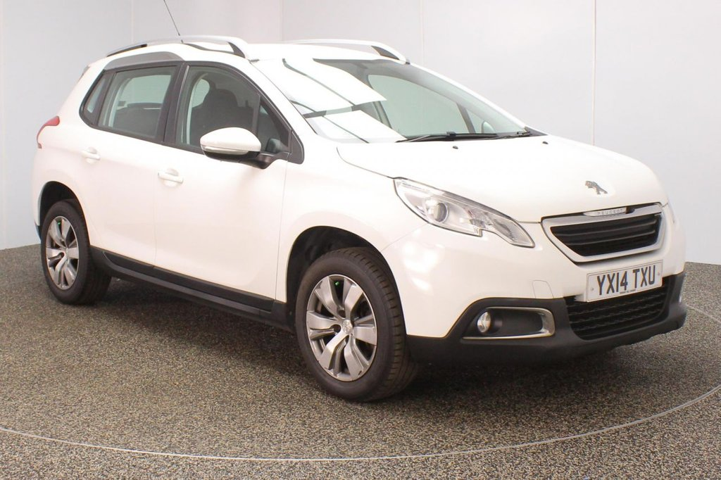 USED 2014 14 PEUGEOT 2008 1.6 ACTIVE 5DR 120 BHP SERVICE HISTORY + BLUETOOTH + CRUISE CONTROL + MULTI FUNCTION WHEEL + AIR CONDITIONING + DAB RADIO + XENON HEADLIGHTS + RADIO/AUX/USB + ELECTRIC WINDOWS + ELECTRIC MIRRORS + 16 INCH ALLOY WHEELS
