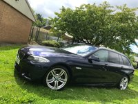 USED 2012 12 BMW 5 SERIES 2.0 520D M SPORT TOURING 5d AUTO 181 BHP +FSH+£6500 worth of options+