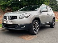 USED 2012 62 NISSAN QASHQAI 1.5 N-TEC PLUS DCI 5d 110 BHP 2 OWNERS, FULL SERVICE HISTORY, 1YR MOT, EXCELLENT CONDITION, ALLOYS, CLIMATE, CRUISE, BLUETOOTH, AIT WIPERS, AROUND VIEW MONITOR, FOGS, RADIO CD, E/WINDOWS, R/LOCKING, FREE WARRANTY, FINANCE AVAILABLE, HPI CLEAR, PART EXCHANGE WELCOME,