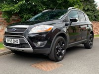 USED 2009 59 FORD KUGA 2.0 TITANIUM TDCI AWD 5d 134 BHP 2 OWNERS, FULL SERVICE HISTORY, 1YR MOT, EXCELLENT CONDITION, ALLOYS, AIR CON, CRUISE, FOGS, RADIO CD, E/WINDOWS, R/LOCKING, FREE WARRANTY, FINANCE AVAILABLE, HPI CLEAR, PART EXCHANGE WELCOME,
