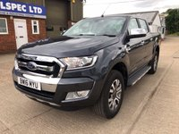 USED 2016 16 FORD RANGER 3.2 LIMITED 4X4 DCB TDCI AUTO 200 BHP LOW MILES!