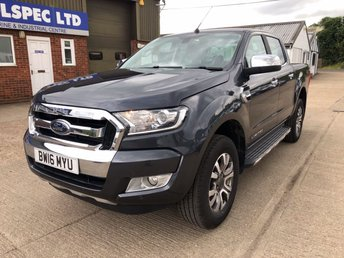 2016 FORD RANGER 3.2 LIMITED 4X4 DCB TDCI AUTO 200 BHP LOW MILES! £14500.00