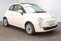 USED 2015 15 FIAT 500 1.2 LOUNGE 3DR HALF LEATHER SEATS 69 BHP HALF LEATHER SEATS + BLUETOOTH + MULTI FUNCTION WHEEL + ELECTRIC SUNROOF + AIR CONDITIONING + RADIO/CD/AUX + ELECTRIC WINDOWS + ELECTRIC MIRRORS + 15 INCH ALLOY WHEELS