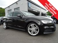 USED 2017 17 AUDI A3 1.6 TDI S LINE 5d 114 BHP 1 OWNER FROM NEW AND FULL AUDI SERVICE HISTORY