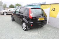 USED 2007 07 FORD FIESTA 1.4 GHIA 16V 5d 80 BHP PETROL BLACK VERY CLEAN EXAMPLE + THE CAMBELT AND WATER PUMP HAVE BEEN RELACED