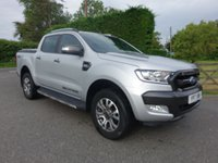 USED 2017 17 FORD RANGER WILDTRAK 4X4 DOUBLE CAB PICK UP AUTO 3.2 TDCI 200 BHP Direct From Leasing Company With Only 25000 Miles, FSH & Ford Warranty Till April 2020, Top Of Range Model With Additional Mountain Top